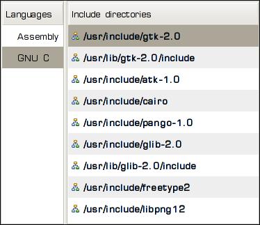 Include directories